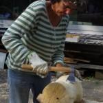 Holzbildhauen Wasserprojekt