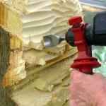 Holzbildhauen im Wasserprojekt2
